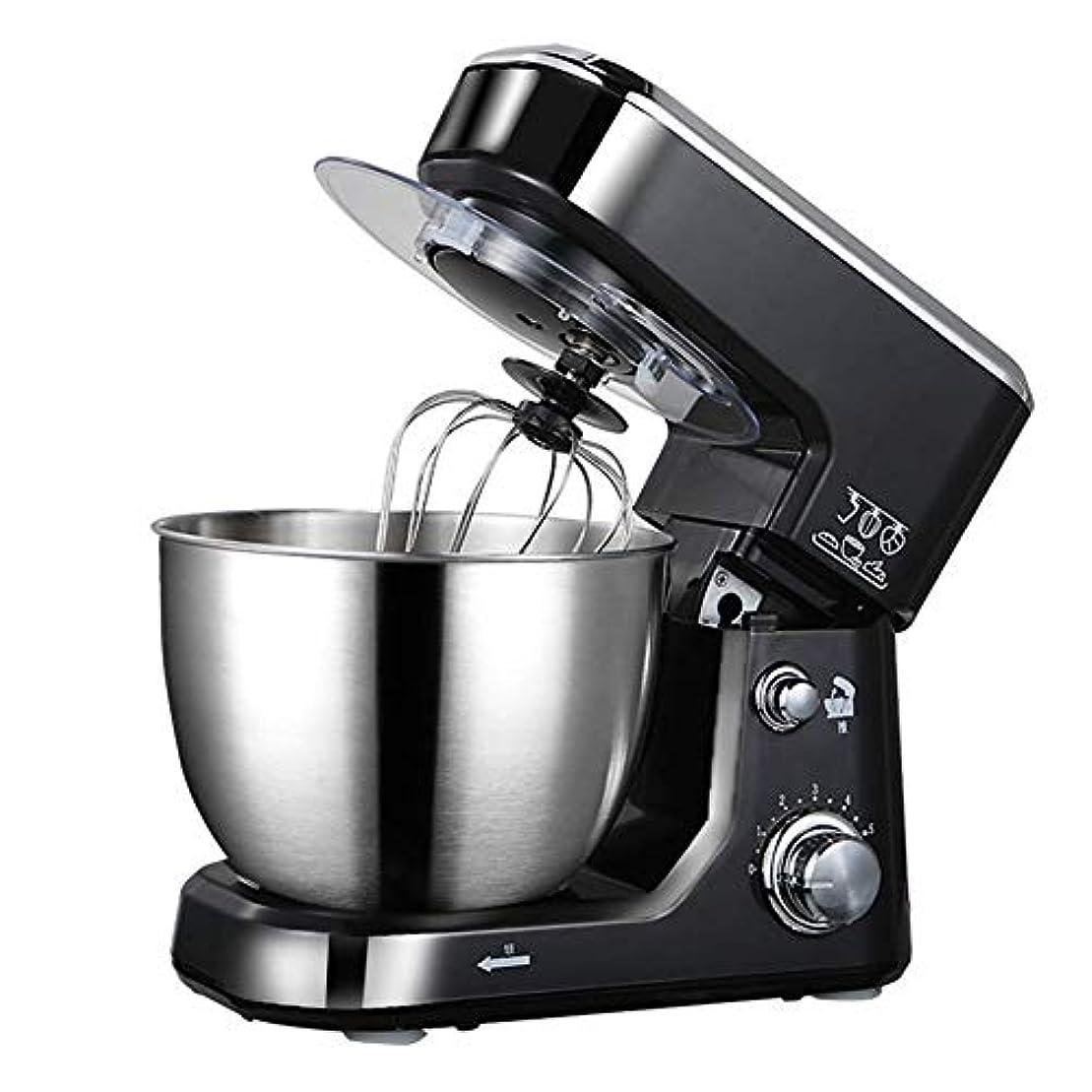 膨張する同情的謙虚なStand Mixer,6-Speed Tilt-Head Food Mixer,Kitchen Electric Mixer with Dough Hook,with bowl Desktop mixer Household Stainless steel beaters(Color :Black)