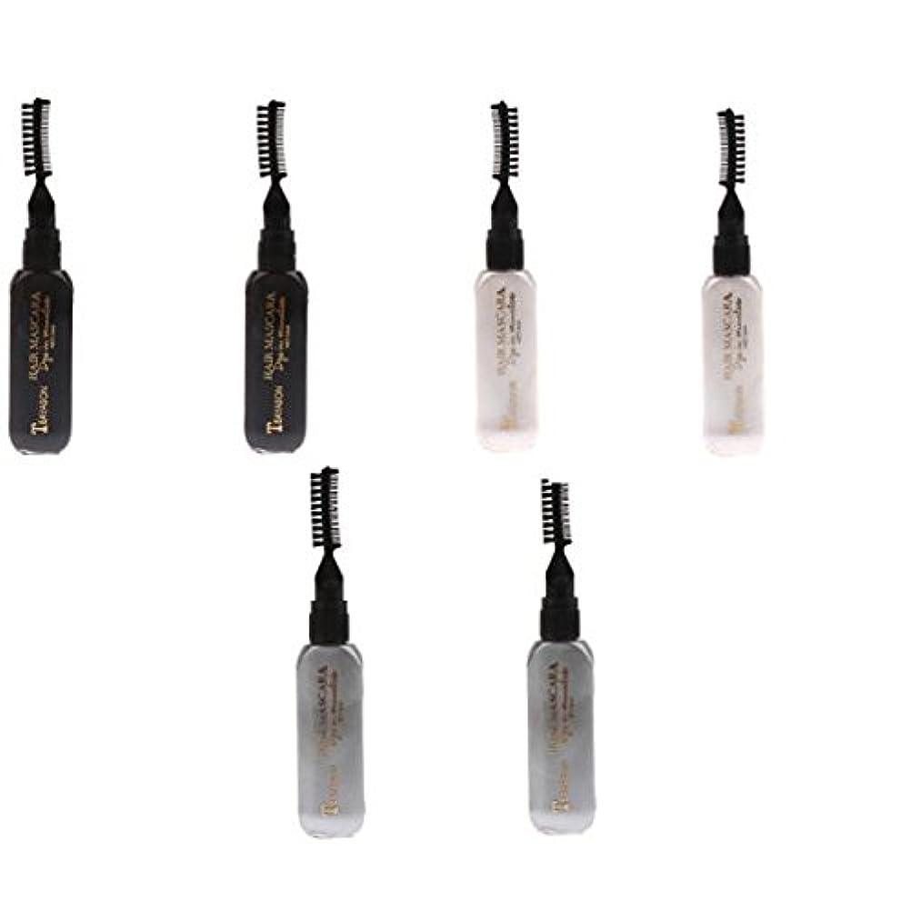 五十リー血色の良いInjoyo 使い捨て3色ヘアマスカラ染め色合い、一時的な(黒、グレー、白)髪の色マスカラハイライトウォッシュアウト