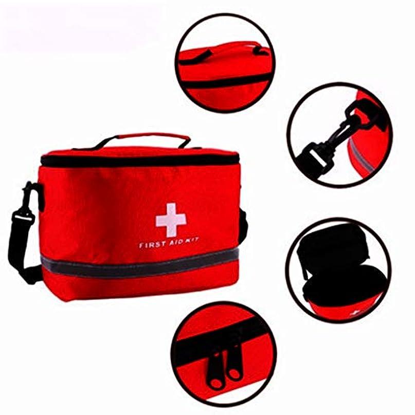 短命フェザーアリス応急処置キット、ポータブル医療緊急キット、小型救助バッグ、家族旅行キャンプ用多機能旅行医学バッグ