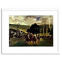 Painting Manet Race Longchamp Old Master Framed Wall Art Print