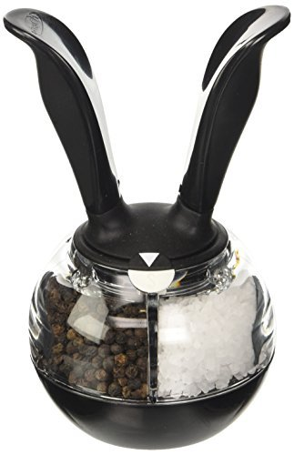 Chef'n Dual PepperBall (Black and Clear) [並行輸入品]