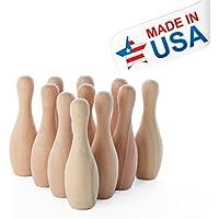 [ファクトリーダイレクトクラフト]Factory Direct Craft 12 Piece Grouping on Small Unfinished Wood Bowling Pins for Making Travel Games, [並行輸入品]