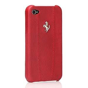 【正規品】 CG Mobile Ferrari GT Leather Modena Case for iPhone 4 レッド CGM-PH-5