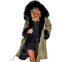 BlackThings Long Sleeve Hooded Parka Jacket Winter Warm Coats Women Plus Size
