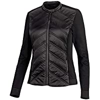 Harley-Davidson Official Women's Quilted Stretch Nylon Jacket, Black - Black - Small