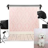 Kate 3x3m ピンク背景 木の背景 木製の背景 木の床 写真撮影用の背景幕 子供やペットの写真撮影用 背景布 装飾用 無反射布 背景紙 写真スタジオの背景