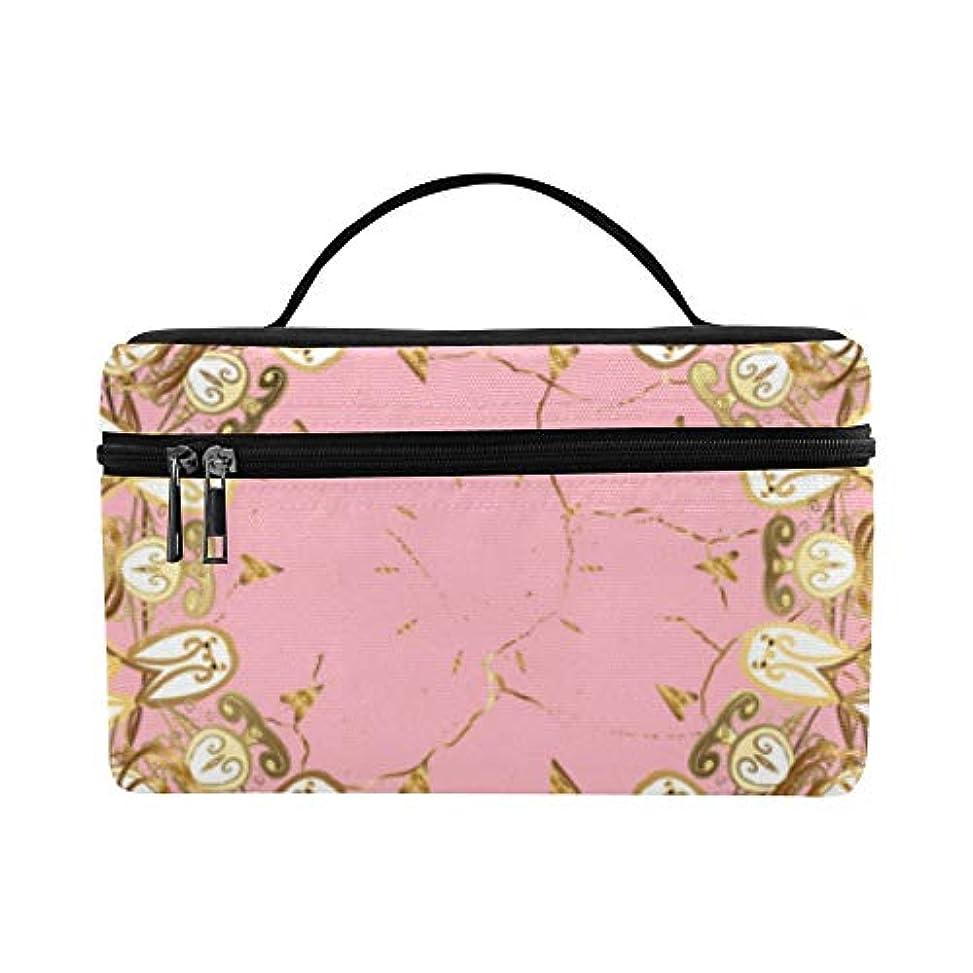 霧クライマックス雪だるまMDKHJ メイクボックス ピンクのアラベスク コスメ収納 化粧品収納ケース 大容量 収納ボックス 化粧品入れ 化粧バッグ 旅行用 メイクブラシバッグ 化粧箱 持ち運び便利 プロ用