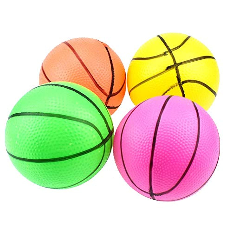 10cmミニインフレータブルバスケットボールおもちゃ屋外子供手首の運動ボール(ランダムな色)