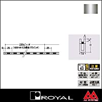 e-kanamono ロイヤル 棚柱 チャンネルペッカーサポート17(シングル) PSF-17 1820mm クローム