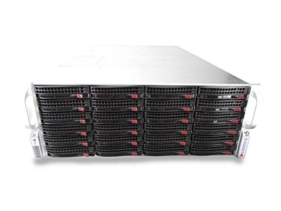 夫婦干渉する刺しますSupermicro CSE-846 4U サーバー X9DRi-F 2xXeon E5-2667 2.9GHz 6 コア 256GB DDR3, LSI 9210-8i IT モード 24x 400GB SATA 6Gbps 2.5 SSDs 1200W PSU、レール付属 (認定リファービッシュ品)