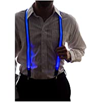 Neon Nightlife Men's Light Up LED Suspenders, One Size