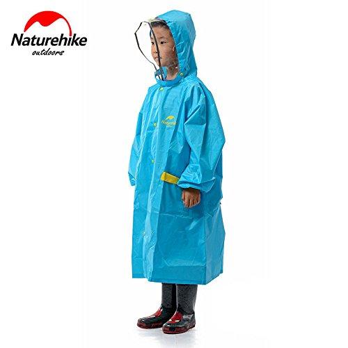 Naturehike子供用レインコートキッズ雨具自転車通学レインウェアキャンプアウトドア(ブルーL)