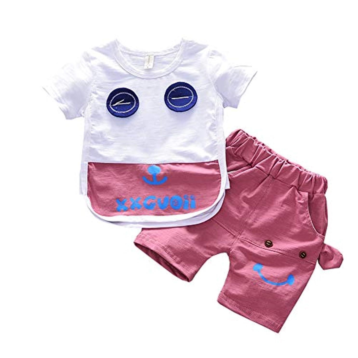 うなり声電信化学者LYWENQINHG ベビー 上下セット キッズ 男の子 女の子 Tシャツ 半袖 ショートパンツ ゾウ 可愛い カジュアル 夏