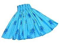 【パウケース付き】 フラ シングルパウスカート 【ブルー・ハイビスカス】 7284 (70cm ゴム3本)