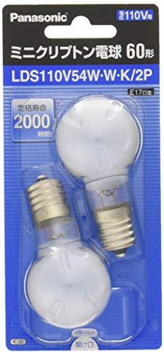 パナソニック ミニクリプトン電球 60W形 ホワイト LDS110V54W・W・K2P 1箱 10個
