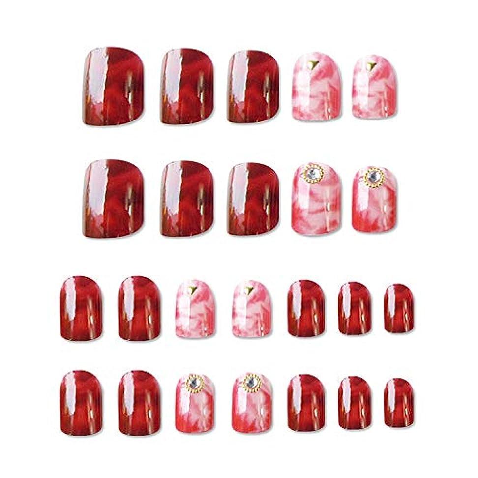 感謝祭たくさんの急襲フェイクネイルデコレーション大理石パターンネイル塗装ファッション完成ネイルパッチ偽ネイルアートアクセサリー,Spain,MS-10