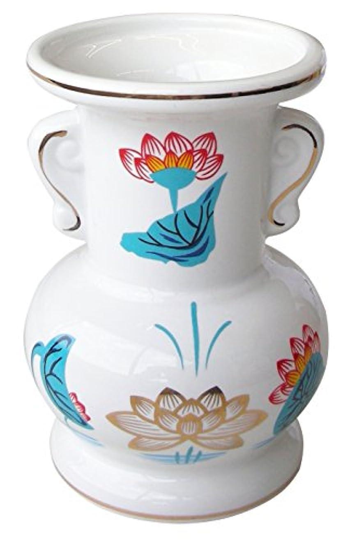 薬を飲む山積みの競争力のあるマルエス 御仏具 金ハス吹並仏花 中 ホワイト