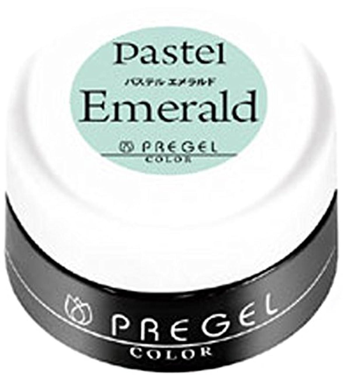 先駆者精神的に有彩色のPRE GEL ジェルネイル カラージェル パステルエメラルド 3g PG-246