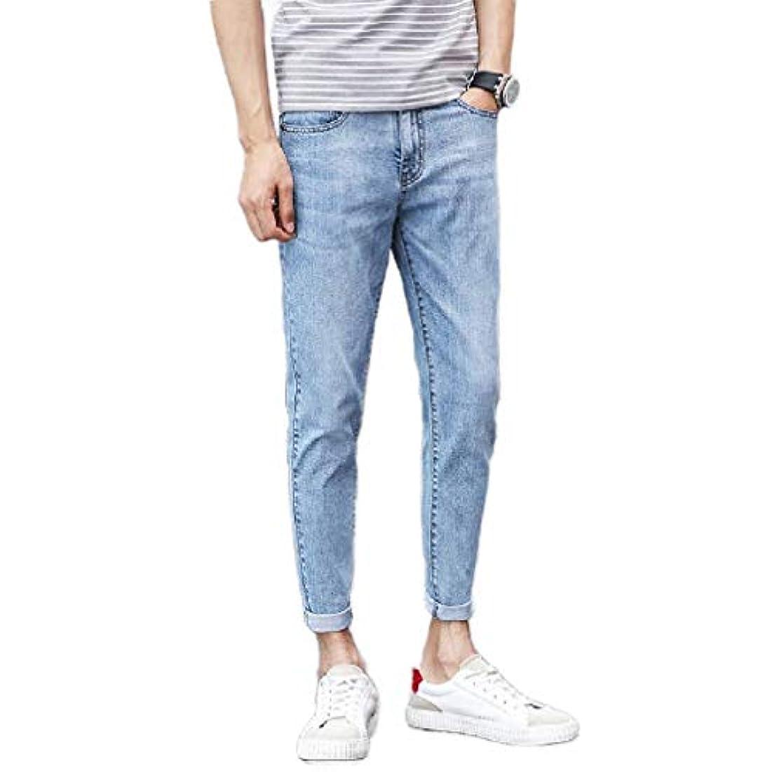 インレイカタログ浴室VITryst Men Jeans Middle Waist Wash Denim Trim-Fit Fresh Ankle Pants