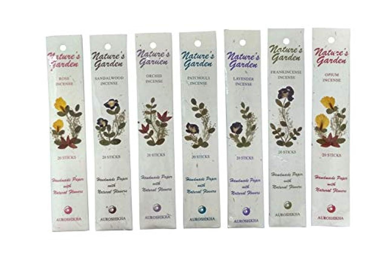 感度耐えるすばらしいですAuroshikha Nature 's Garden (優れた品質)サンダルウッドお香、120 Sticks – Set of 6