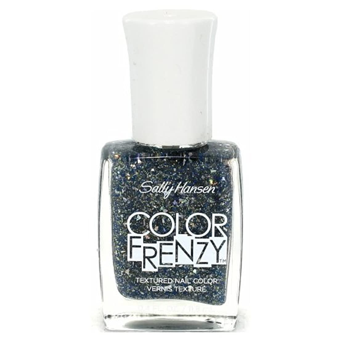 男らしい偽善兵士(6 Pack) SALLY HANSEN Color Frenzy Textured Nail Color - Sea Salt (並行輸入品)