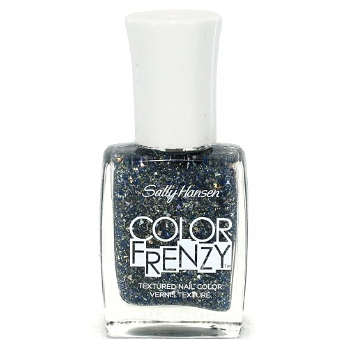 貴重な罪人初心者(3 Pack) SALLY HANSEN Color Frenzy Textured Nail Color - Sea Salt (並行輸入品)
