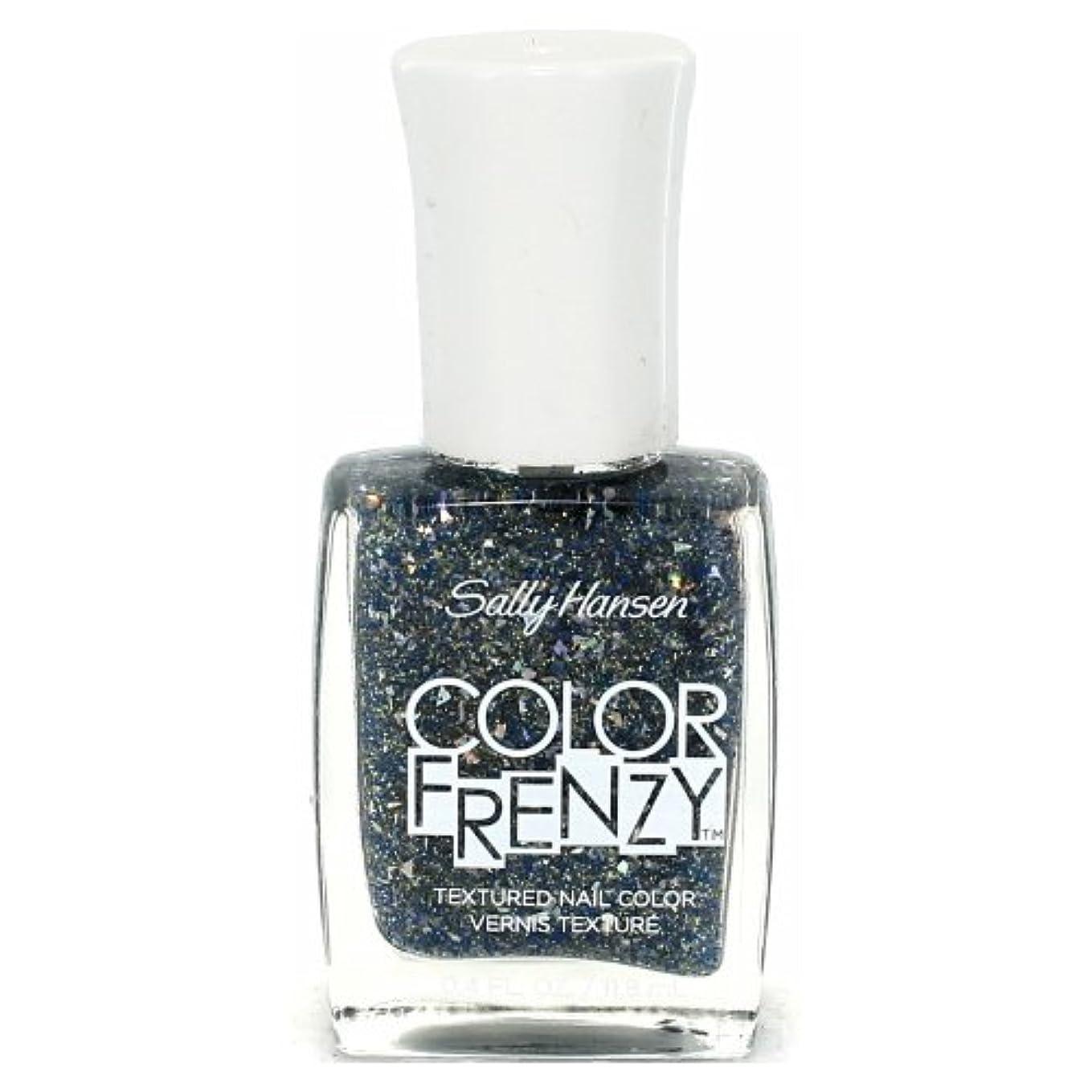 灰北へわかる(6 Pack) SALLY HANSEN Color Frenzy Textured Nail Color - Sea Salt (並行輸入品)