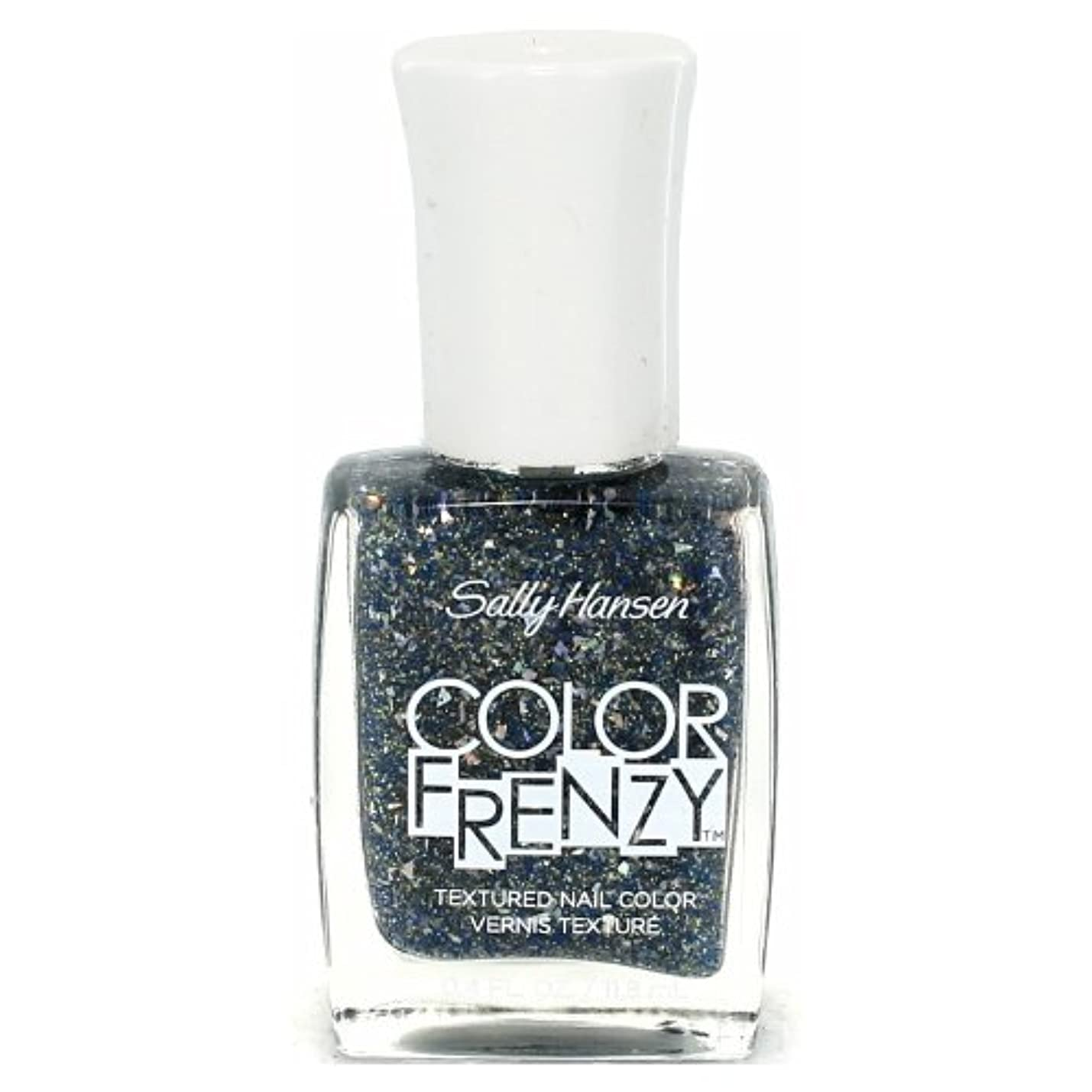 オレンジ狐永久(6 Pack) SALLY HANSEN Color Frenzy Textured Nail Color - Sea Salt (並行輸入品)