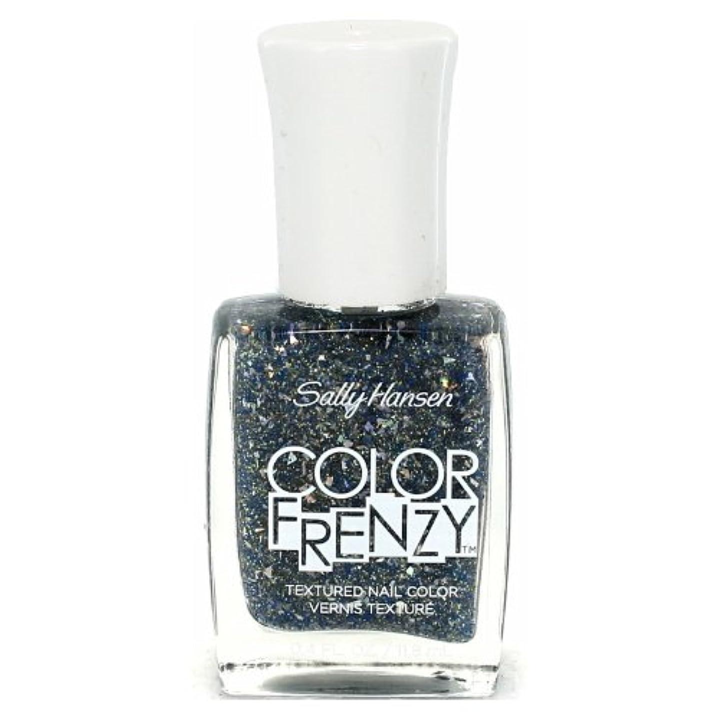 強調の頭の上バーベキュー(6 Pack) SALLY HANSEN Color Frenzy Textured Nail Color - Sea Salt (並行輸入品)