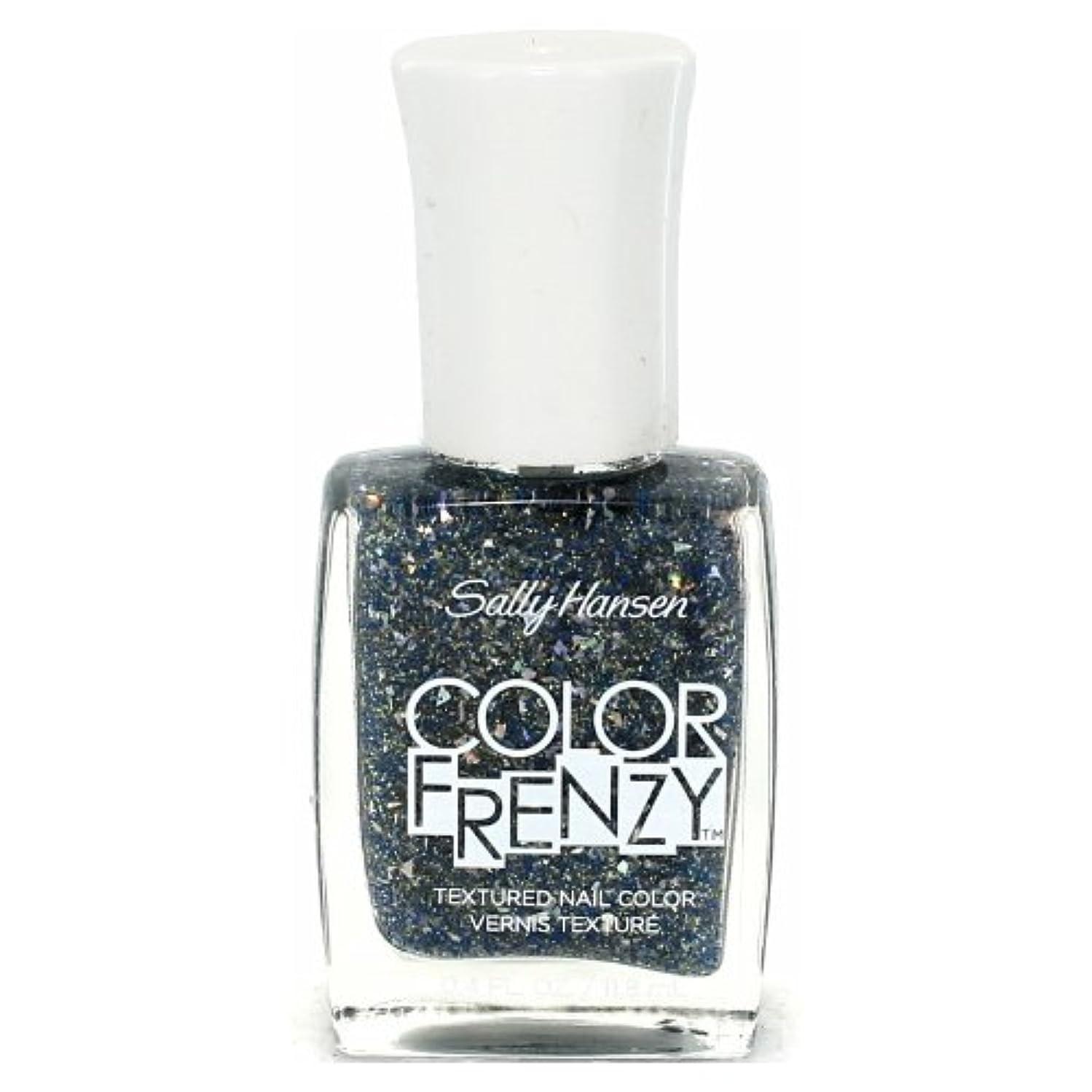 人フリル割り込み(3 Pack) SALLY HANSEN Color Frenzy Textured Nail Color - Sea Salt (並行輸入品)