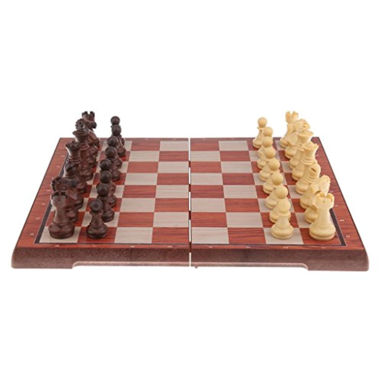 Fenteer 磁気 チェスボード テーブルゲーム ピース 子供 ギフト