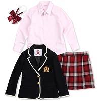 (コノミ) CONOMi 制服4点セット1(girl) ラインブレザー×レッドスカート