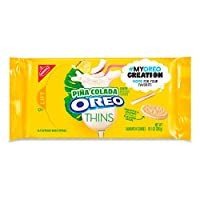 Oreo Thins Pina Colada Sandwich Cookies 280g オレオシンズピーナコラダサンドイッチクッキー [並行輸入品]