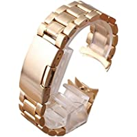 PIXNOR Women's Premium Quality Solid Links Bracelet Watch
