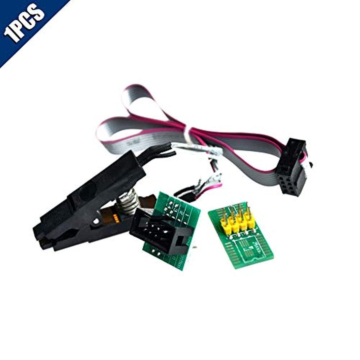 二層レース地味なComidox 1PCS SOIC8 SOP8 8ピン フラッシュチップ ICテストクリップ ソケットアダプター BIOS/24/25/93 プログラマーコンバーター