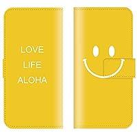 【 ankh 】 手帳型ケース 全機種対応 【 AQUOS R2 SH-03K専用 】 おしゃれ にこ smile にこちゃん マーク シンプル nico ブック型 二つ折り レザー 手帳カバー スマホケース スマートフォン
