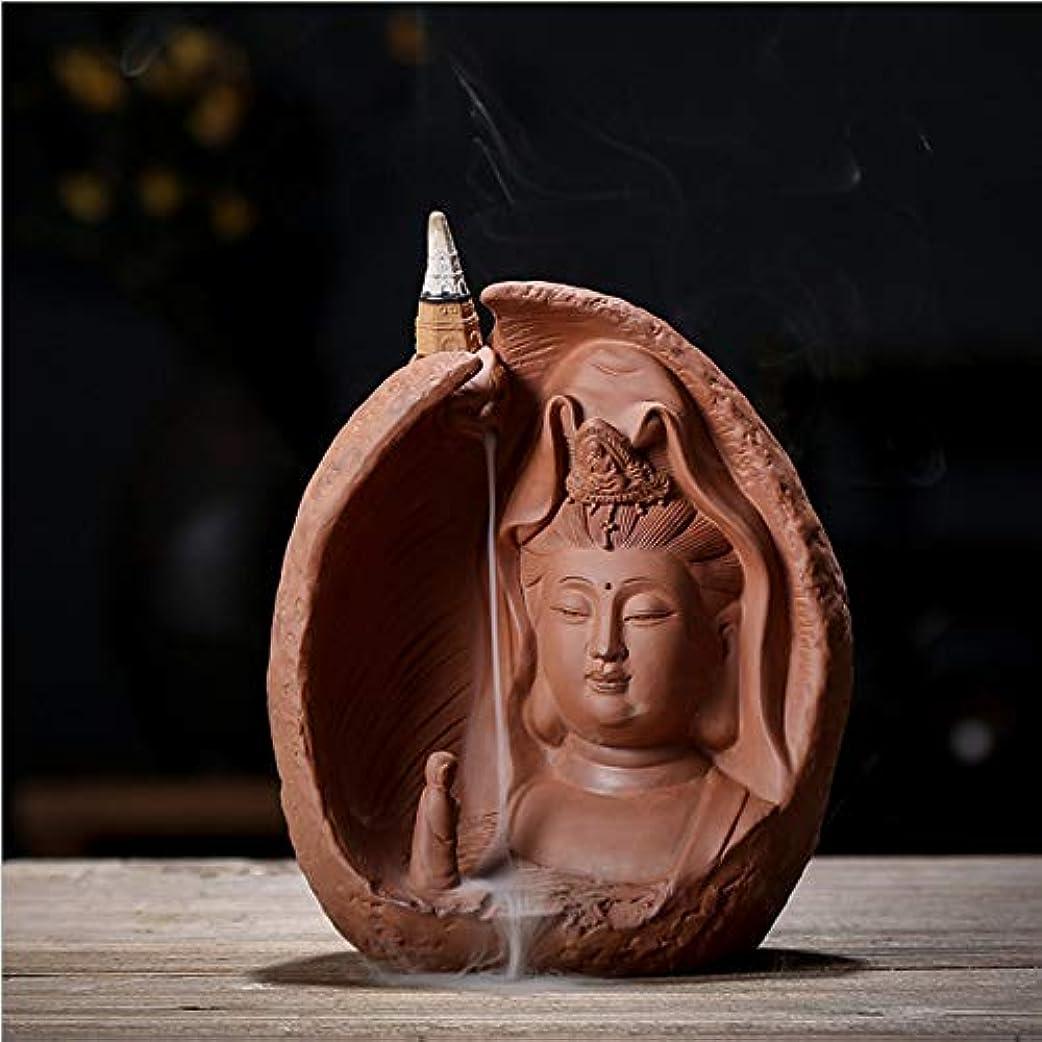 思い出オリエントペチュランスデコレーション無料の10個香コーンと逆流香バーナーセラミックアンティークタワー香バーナー,Brown