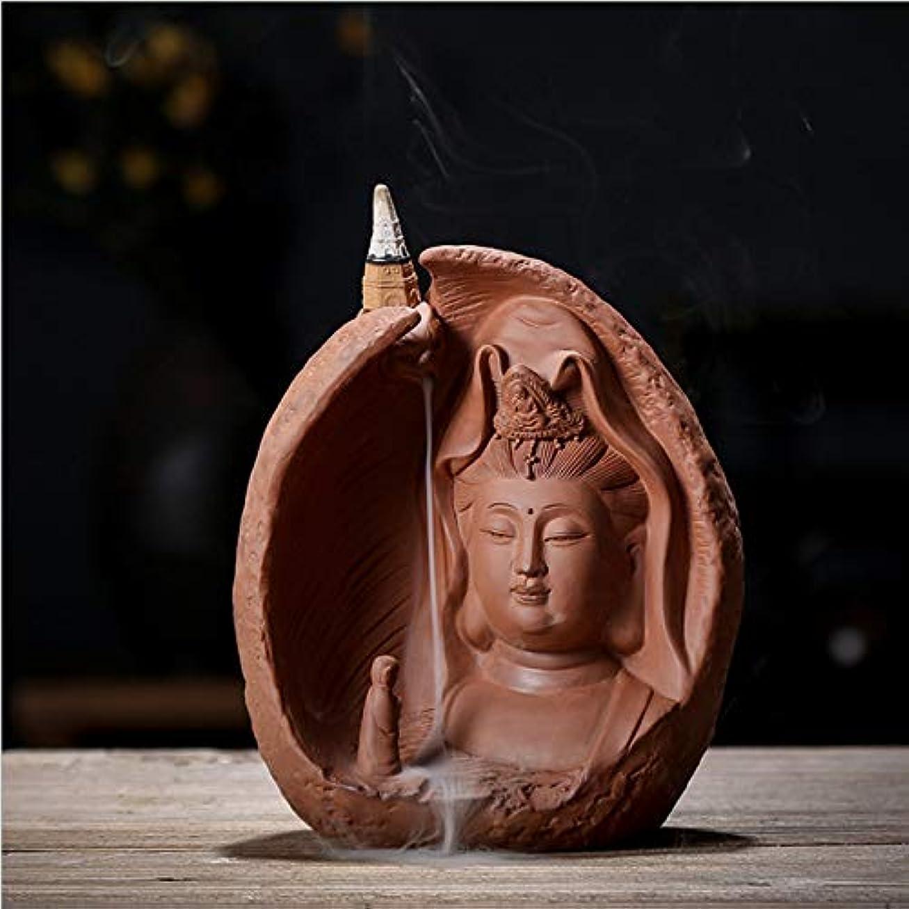 フィヨルド大惨事たるみデコレーション無料の10個香コーンと逆流香バーナーセラミックアンティークタワー香バーナー,Brown