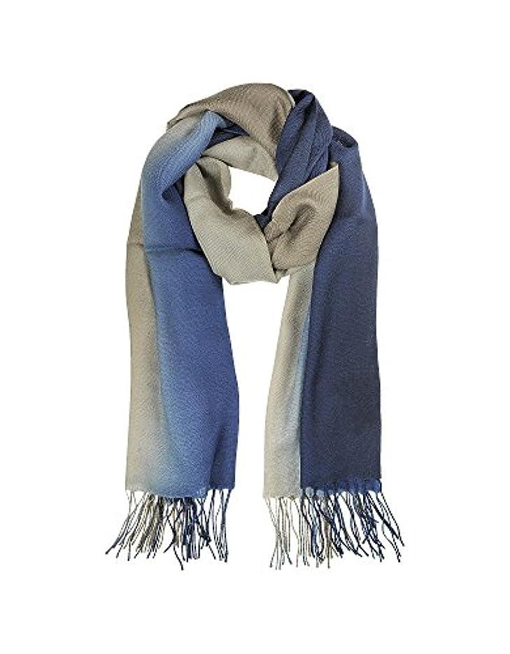 哀れな南アメリカ追放するMila Schon レディース B4548P0195 ブルー ウール スカーフ