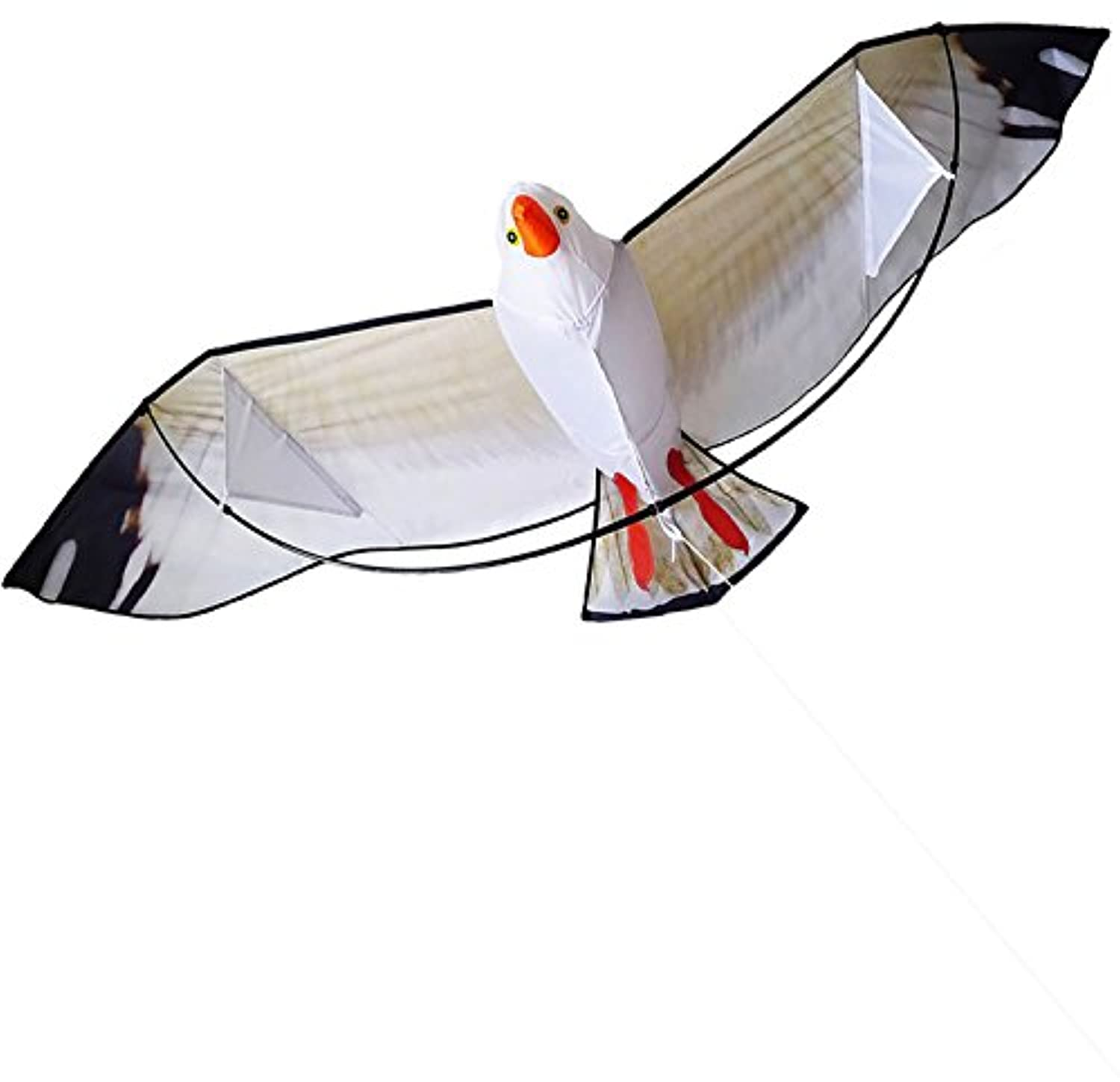 Kite 200cm x 80cm Huge Eagle Kites for Kids and Adults Nylon Kite 3D Design Easy to Fly, One of the Best Outdoor Toys for the Beach,Park and Family Games Activities,Comes with String and Handle