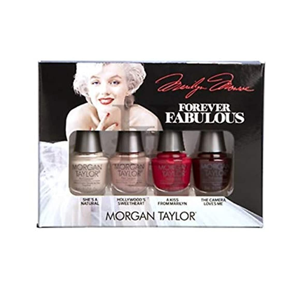 頬いちゃつくアパルMorgan Taylor - Forever Fabulous Marilyn Monroe Mini 4 Pack - 5 mL / 0.17 oz