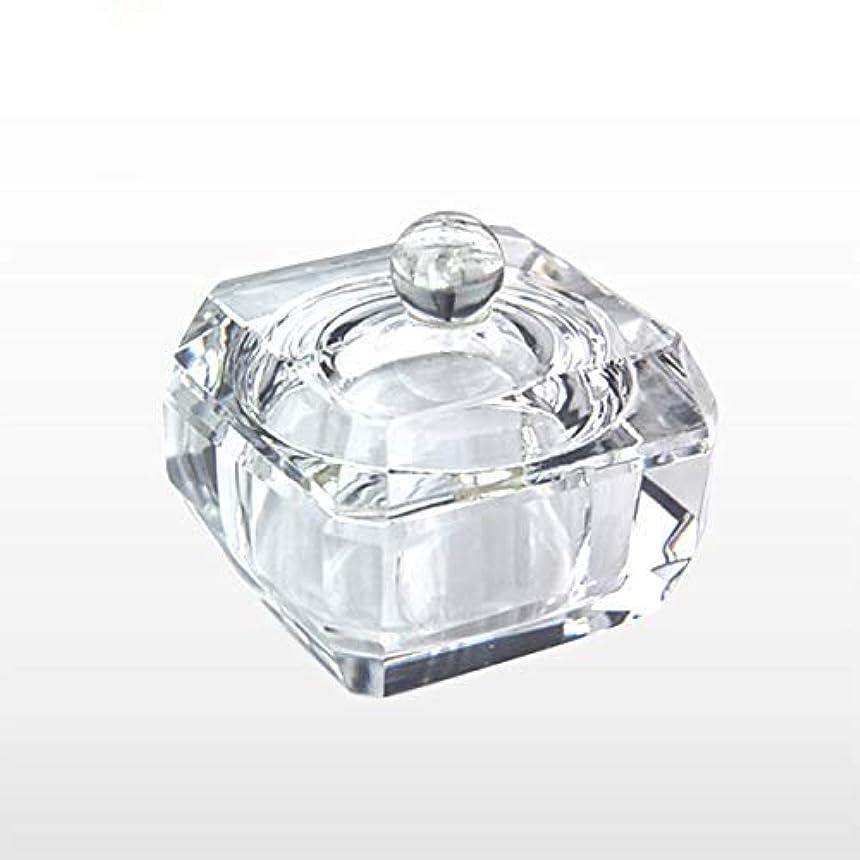 代表する環境ドックダッペンディッシュ フタ付き四角Sサイズガラス製