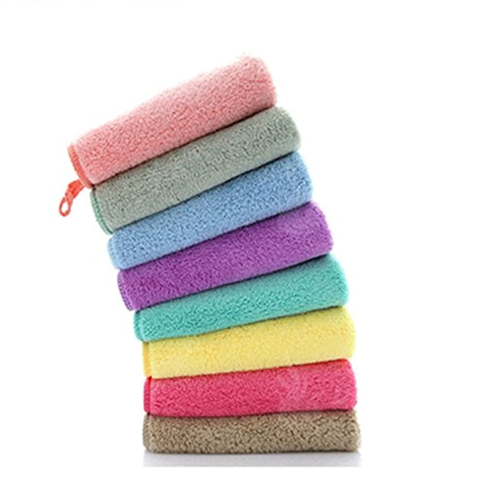 部屋を掃除する放棄財政Sweetimes メイク落としタオル 超細繊維 ソフト 吸水 可愛い6色セット No.22