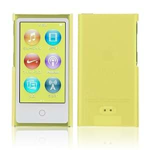 Simplism iPod nano (7th) ハードカバー 傷防止UVコーティング 液晶保護フィルム付属 抗菌仕様 イエロー TR-CCNN12-YL