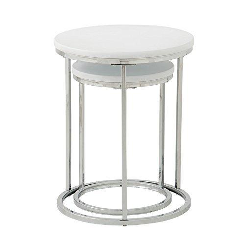 ネストテーブル 大・小2台セット ホワイト
