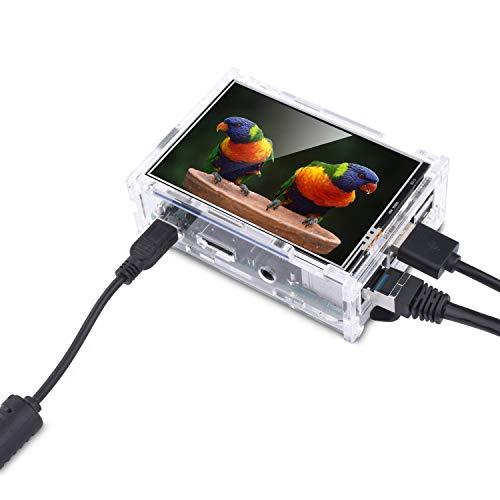 『Kuman Raspberry Pi ディスプレイ タッチスクリーン 3.5インチ ケース ヒートシンク Pi 3B 2B B A A B 用 SC11-JP』の4枚目の画像