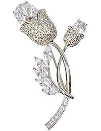 花のブローチの女性のファッション的な個性の気質のブローチはアクセサリを配合します
