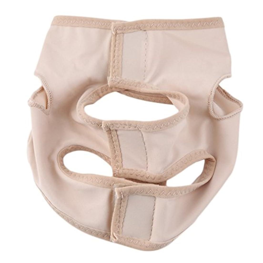 層感嘆符頑丈女性の顔スリムは、繊細な顔のスリミング包帯チークリフトアップベルトマスク