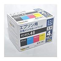 -まとめ-ワールドビジネスサプライ・-Luna・Life-・エプソン用・互換インクカートリッジ・IC4CL46・4本パック・LN・EP46/4P-×3セット-