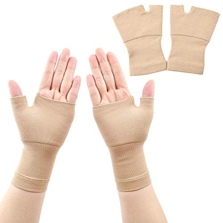 そっと引く広告テニスジムスポーツ腱鞘炎のためのスポーツの包帯リストバンドハンドジムのサポート手首ブレース手根管サポート手首の痛みを軽減するリストコンプレッションストラップ,Flesh,S